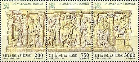 Vatican 1993 - Ascension Day, triptic neuzata