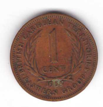 British Caribbean Territories 1955 - 1 cent