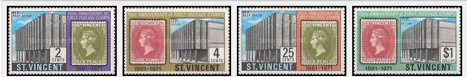 St Vincent 1971 The 110th Anniversary of First St. Vincent Stamp