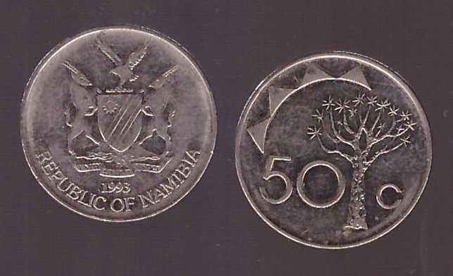Namibia 1993 - 50 cents VF