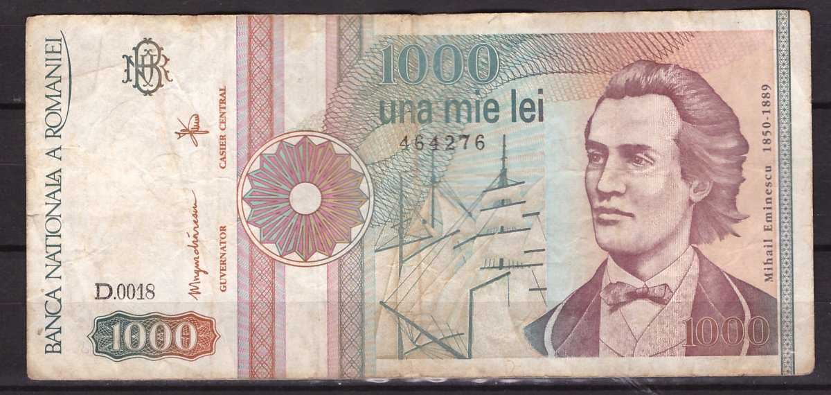 Romania 1991 septembrie - 1000 lei F