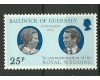 Guernsey 1973 - Royal wedding, neuzata