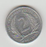 East Caribbean States 2008 - 2 Cents