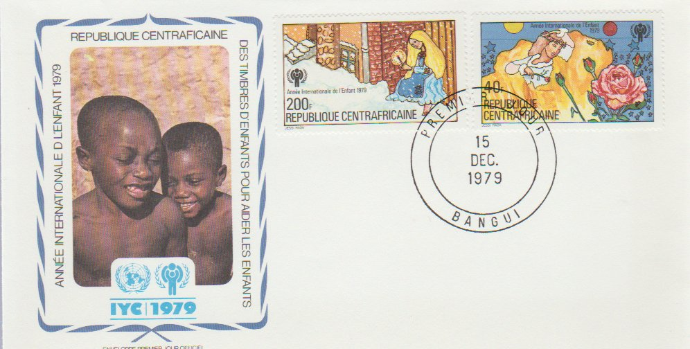 Republica Centrafricana 1979 - copii UNICEF, FDC