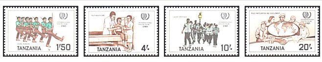 Tanzania 1986 - International Youth Year, serie neuzata