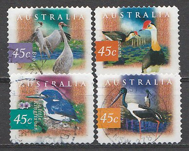 Australia 1997 - Birds from Wetlands, serie stampilata