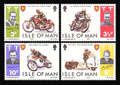 Isle of Man 1974 - Moto-racing, serie neuzata