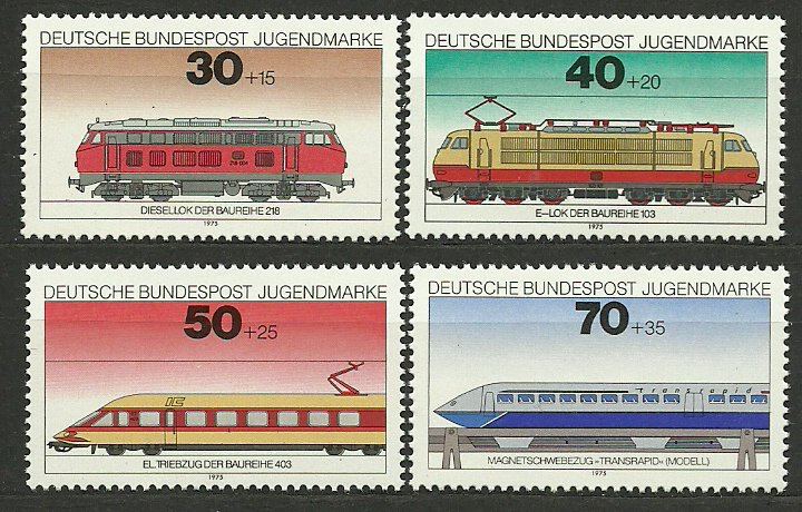 Bundes 1975 - locomotive, serie neuzata