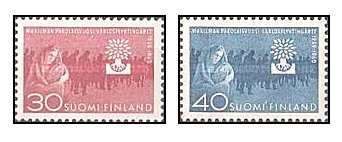 Finlanda 1960 - World refugee year, serie neuzata