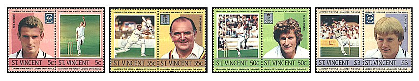St Vincent 1985 - Cricketers, serie neuzata