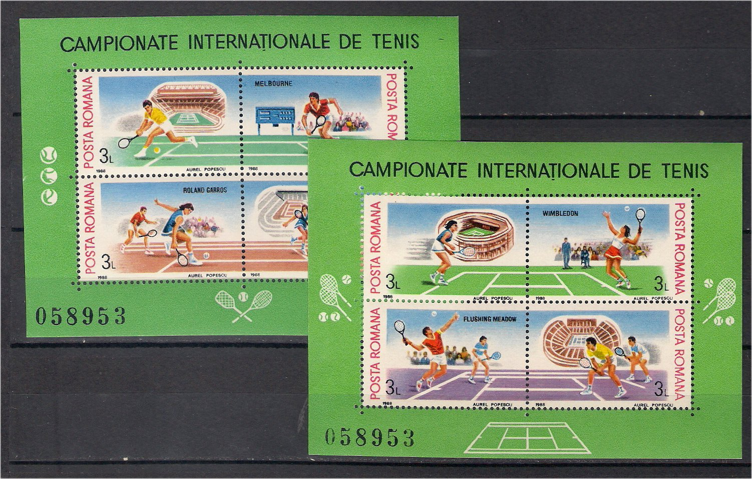 1988 - Campionatele Internationale de tenis, blocuri neuzate