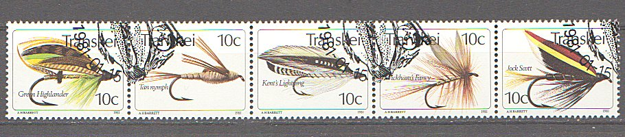 Transkei 1981 - Fishing Flies, serie stampilata