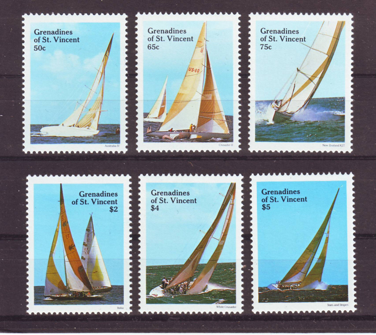 Grenadines of St Vincent 1988 - Navigatie, serie neuzata