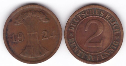 Germania 1924 - 2 pfennig A