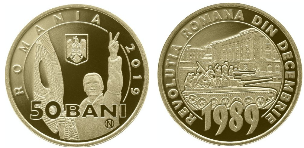 Romania 2019 - 50 bani Revolutia, PROOF