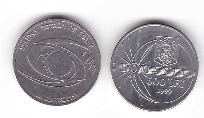 Romania 1999 - 500 lei, eclipsa